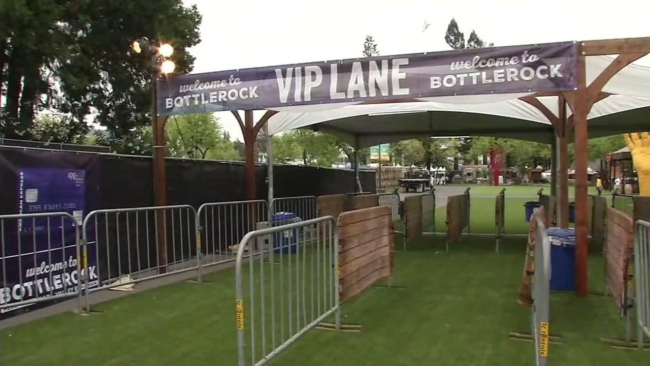 The VIP line at BottleRock is pictured in Napa, Calif. on Friday, May 26, 2017.
