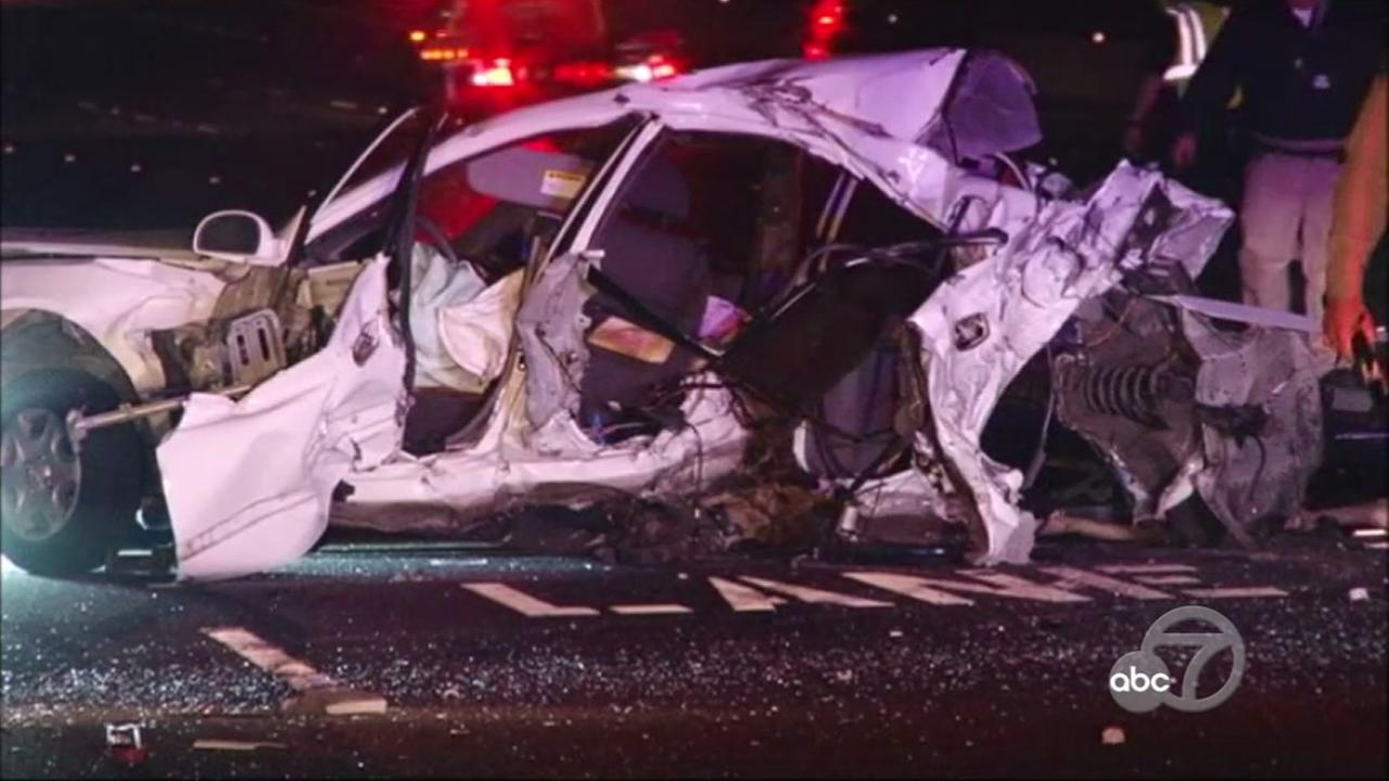At least 1 person has died in a crash on I-580 in Livermore, Monday, May 29, 2017.