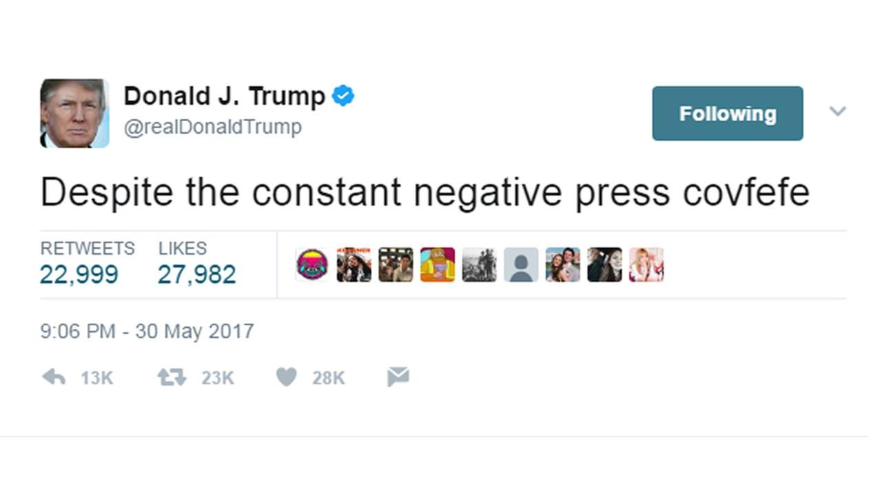 President Donald Trump sent out this tweet on Tuesday, May 30, 2017.