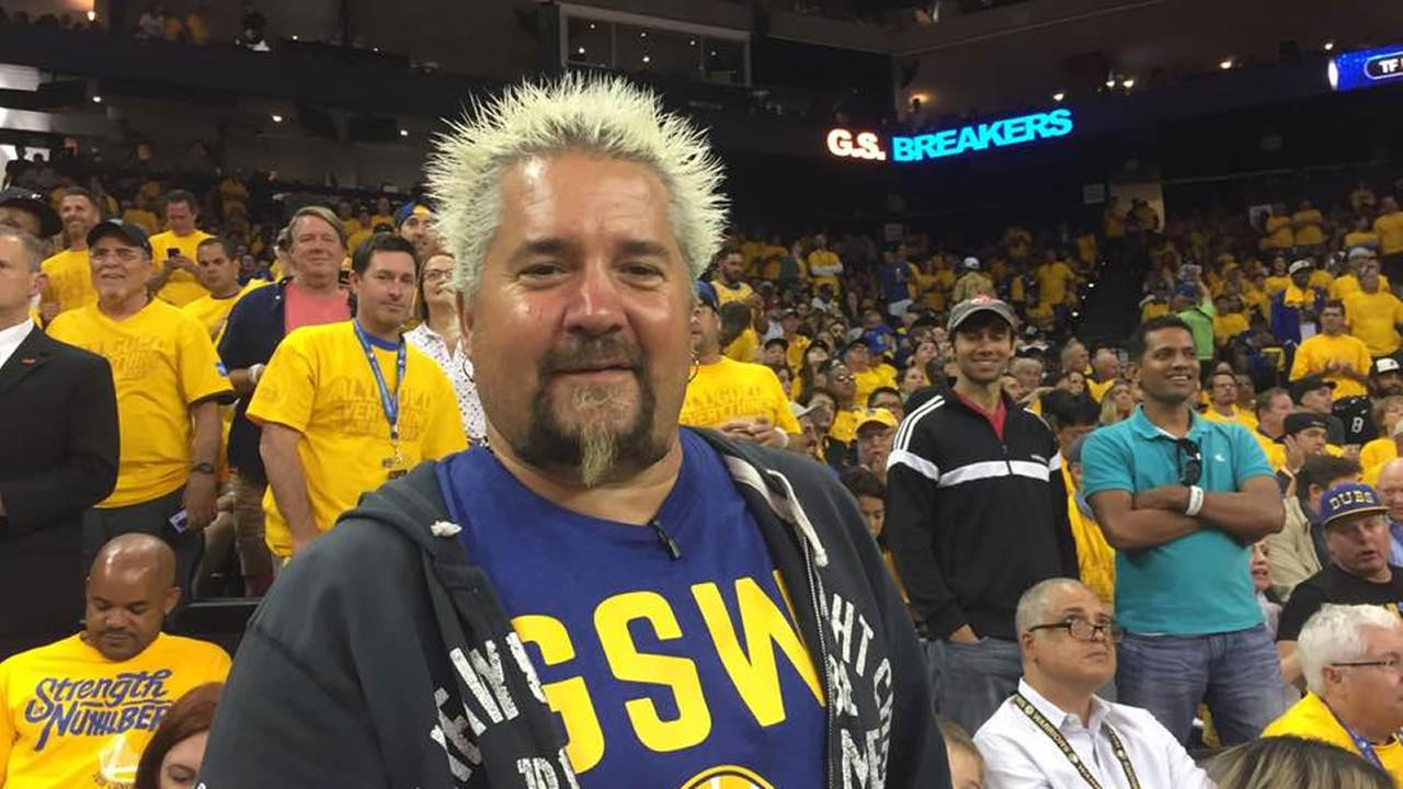 Guy Fieri told ABC7 News, I know the Warriors are going to win, at game 2 of the NBA Finals in Oakland, Calif. on Sunday, June 4, 2017.