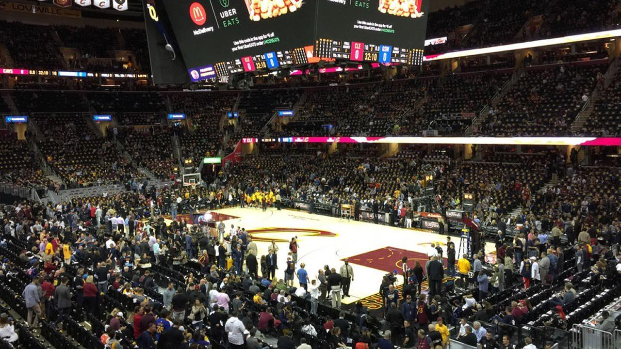 The Quicken Loans Arena appears before game 3 of the NBA Finals on June 7, 2017.Wayne Freedman