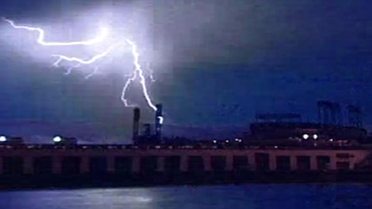 Lightning above AT&T Park in San Francisco.