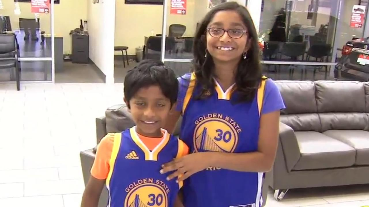 Ananya Vinay and her brother are seen in Fresno, Calif. on Monday, June 12, 2017.