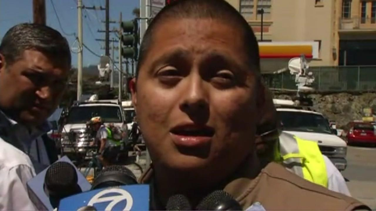 UPS driver Marvin Calderon describes hearing gunfire at a UPS facility in San Francisco on Wednesday, June 14, 2017.