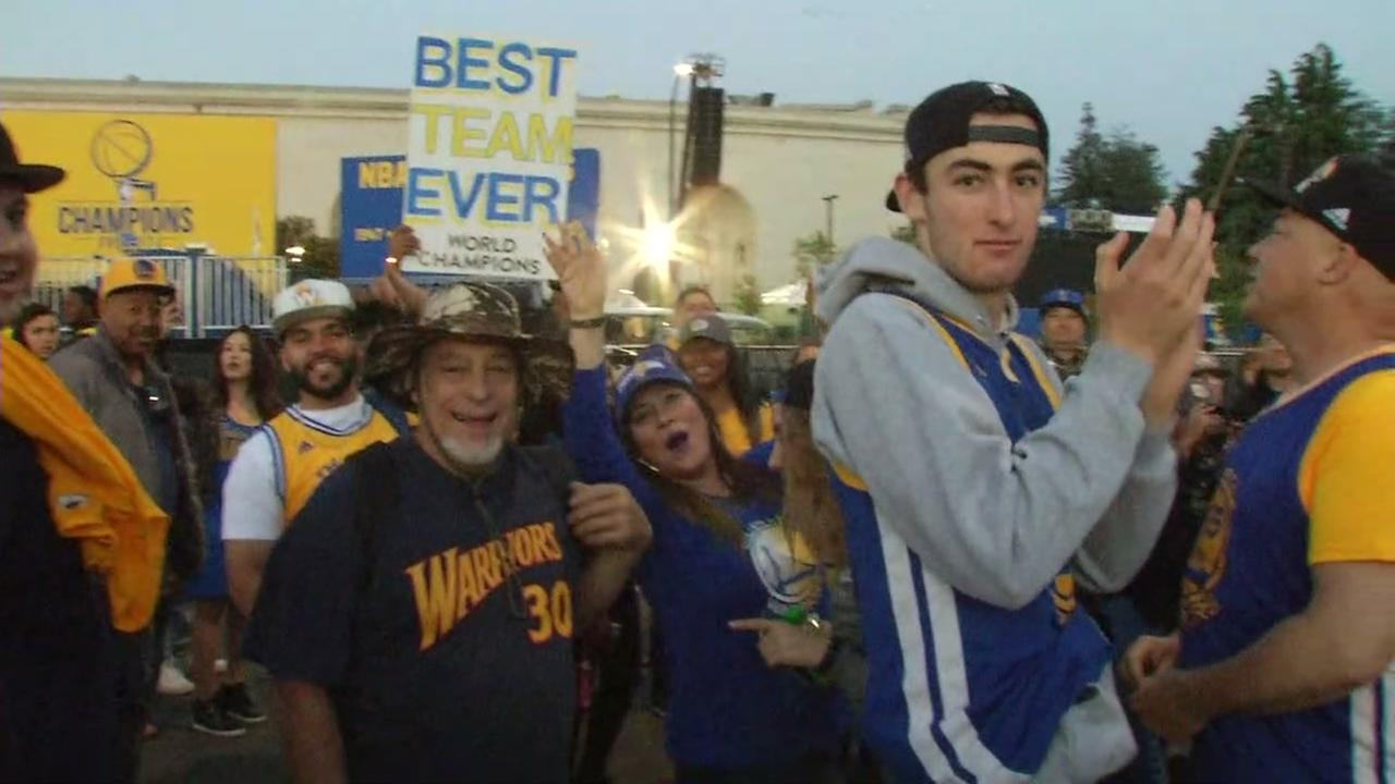 1.5 million attend Golden State Warriors' NBA Finals victory parade