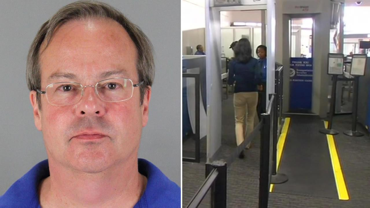 Eric Slighton, 53, is accused of posing as a TSA agent and patting down female passengers at San Francisco International Airport.