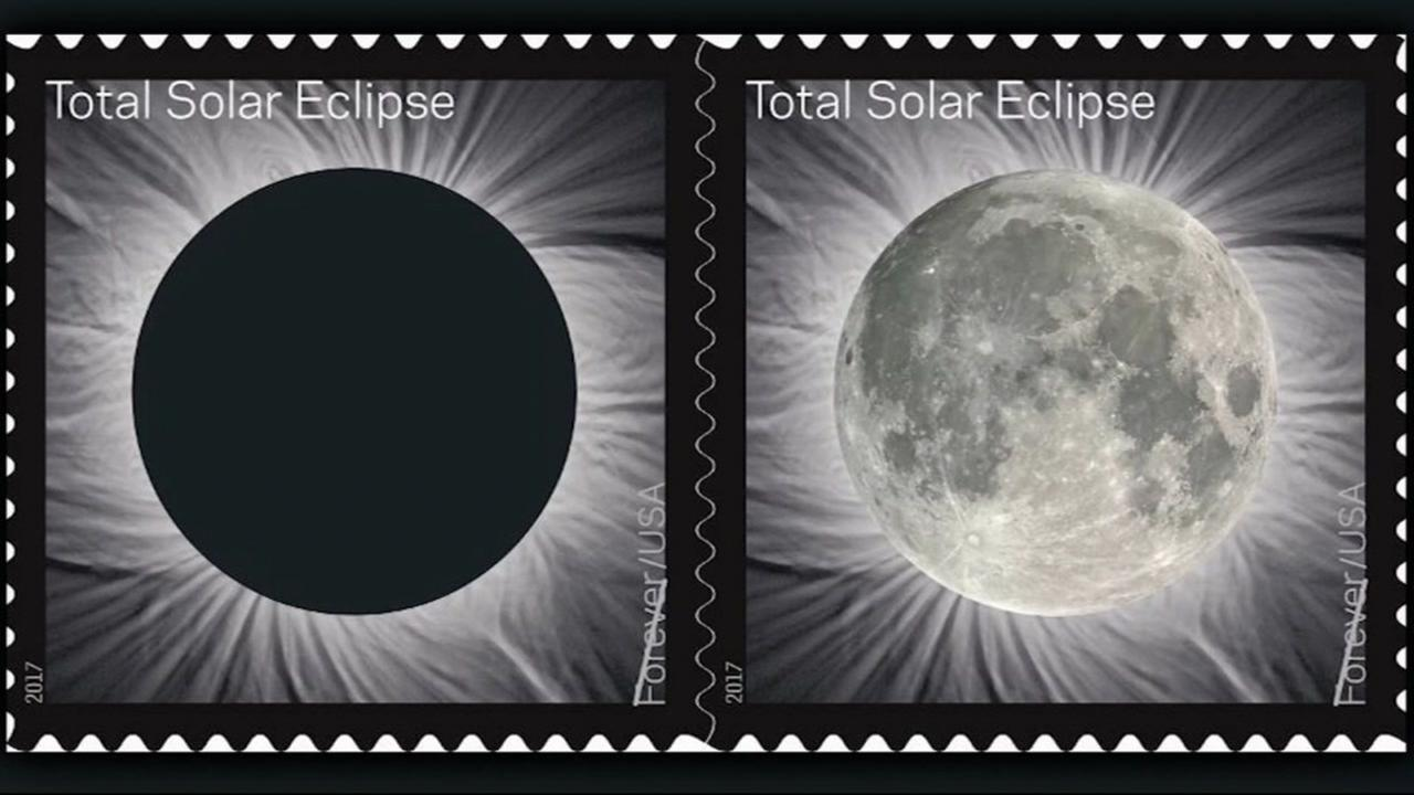 The U.S. Postal Service is issuing this unique stamp in honor of this summers total solar eclipse.