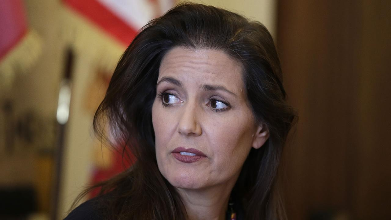 Oakland Mayor Libby Schaaf during a news conference at City Hall Wednesday, June 15, 2016, in Oakland, Calif.