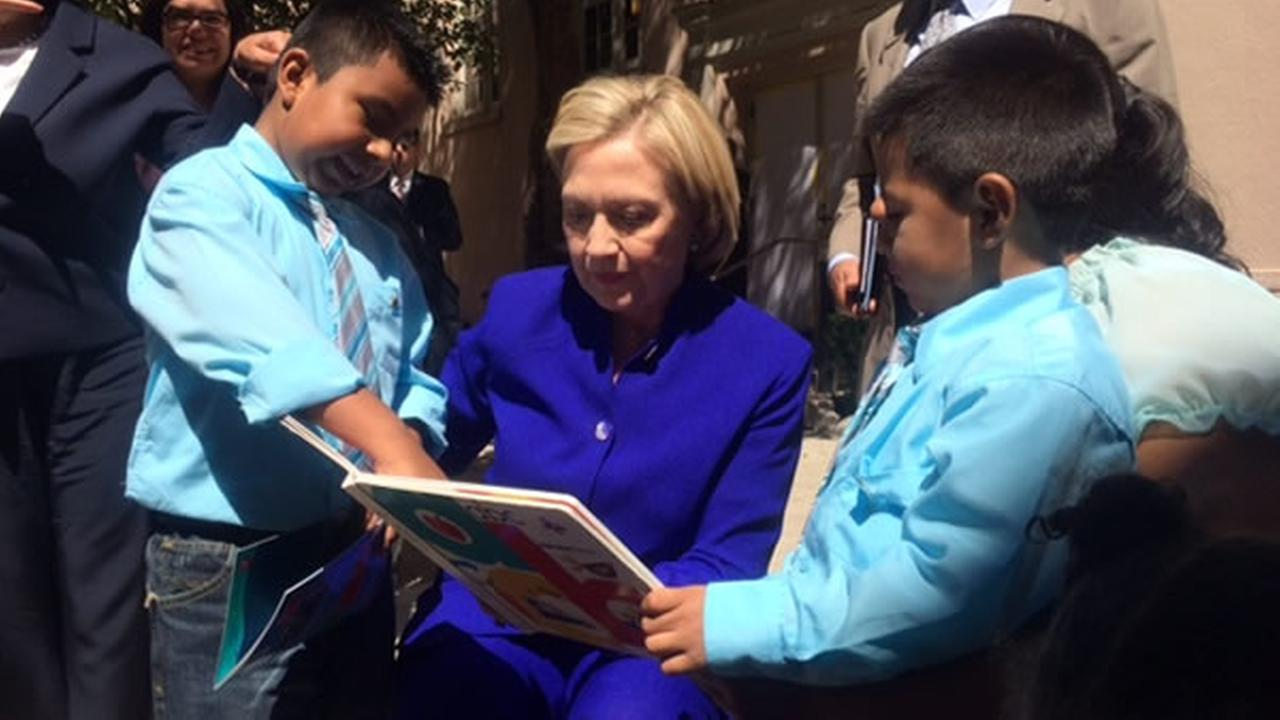 Hillary Clinton visits the Bay Area