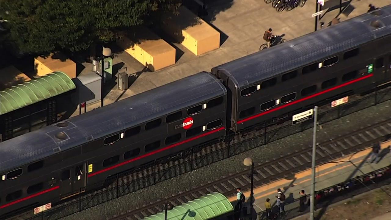 Caltrain is seen at the Sunnyvale station on Friday, June 23, 2017.