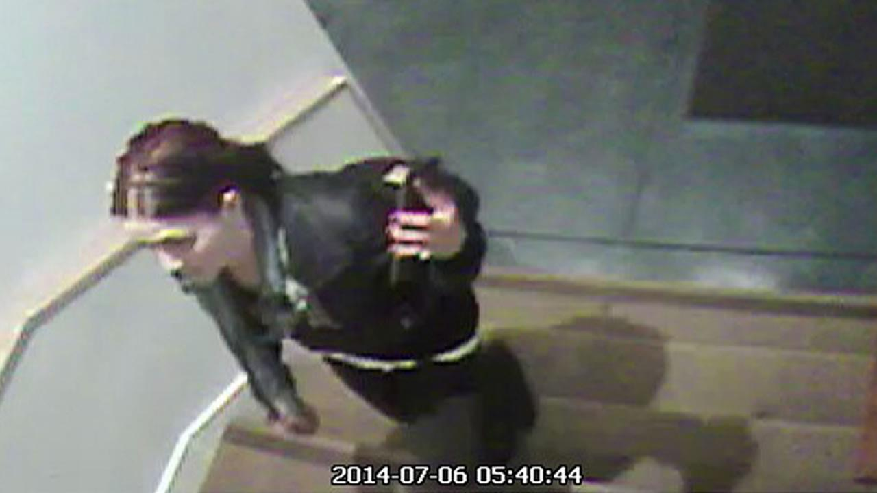 Surveillance video picture of suspect wanted in BuildZooms office burglary.