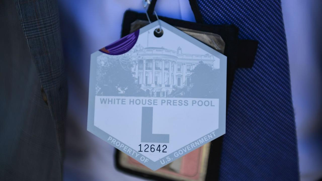 It is important to wear the Press Corps pass at all times.ABC7 News/Wayne Freedman