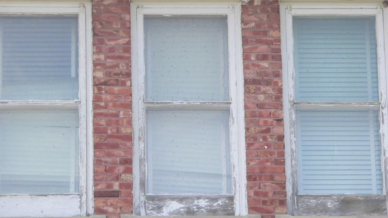This is an undated image of a window.
