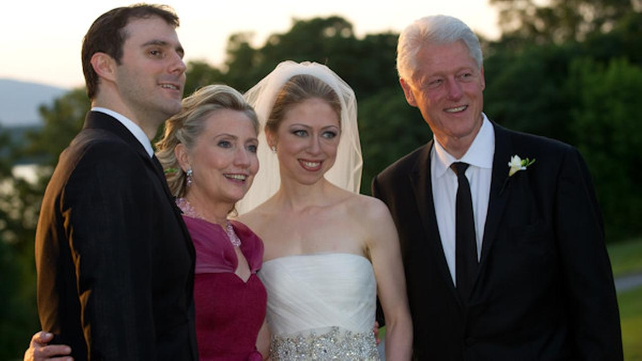Former first daughter Chelsea Clinton married her longtime boyfriend Marc Mezvinsky in Rhinebeck, N.Y.