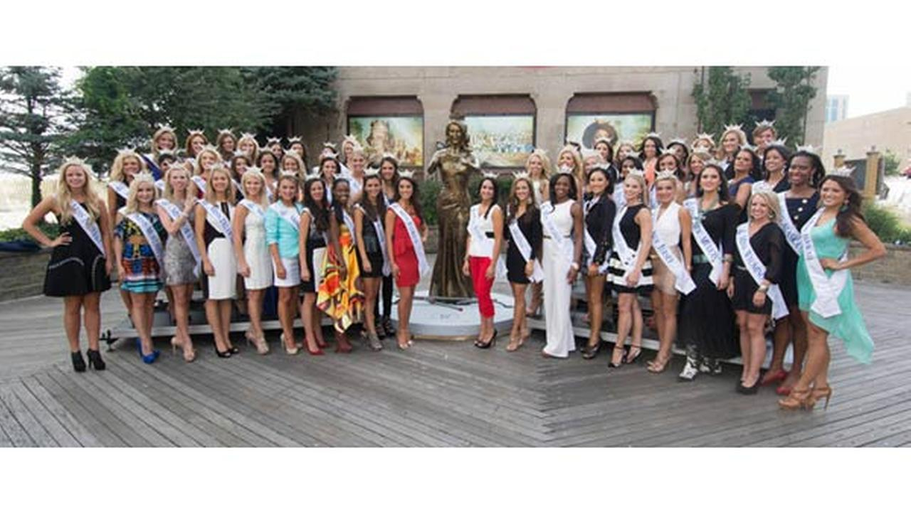 Pictures of Miss America contestants vying for the 2014 crown.