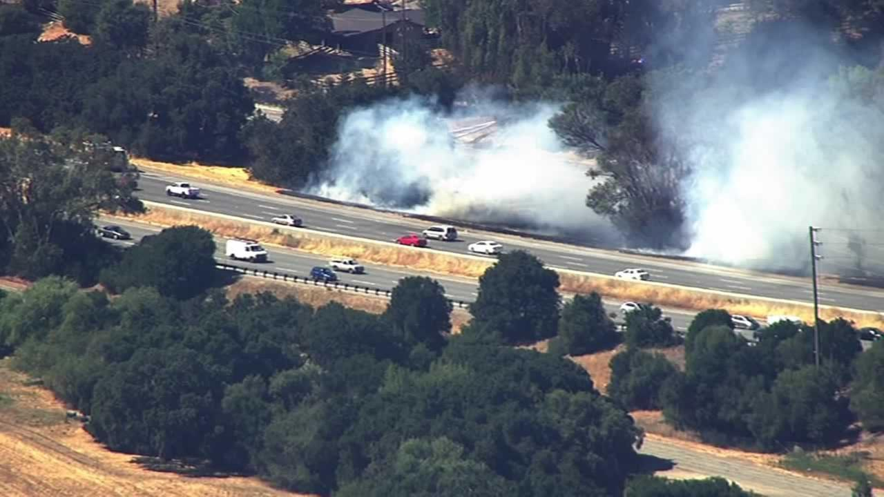 Woodside brush fire