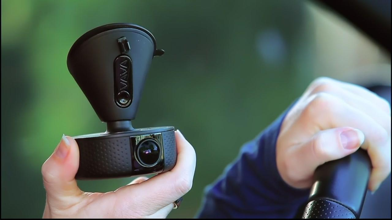A VAVA dash cam is shown in a promotional video by the company.