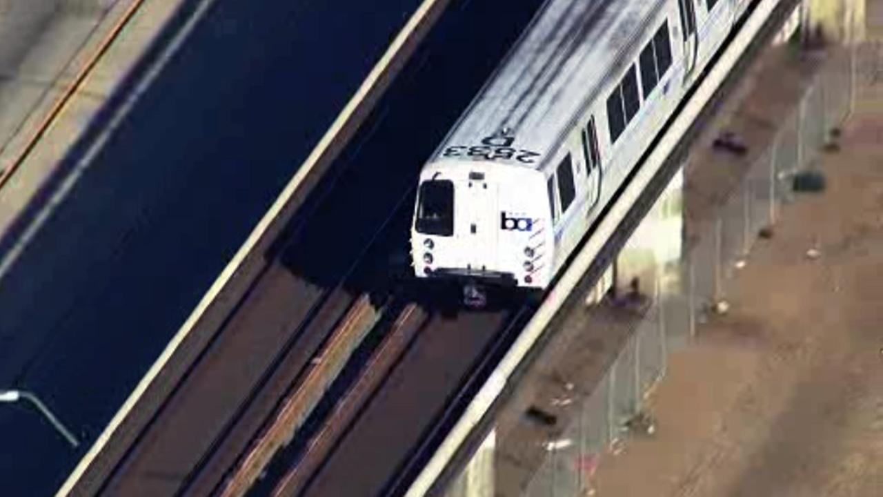 Trains are moving again out of the Oakland Coliseum BART station.