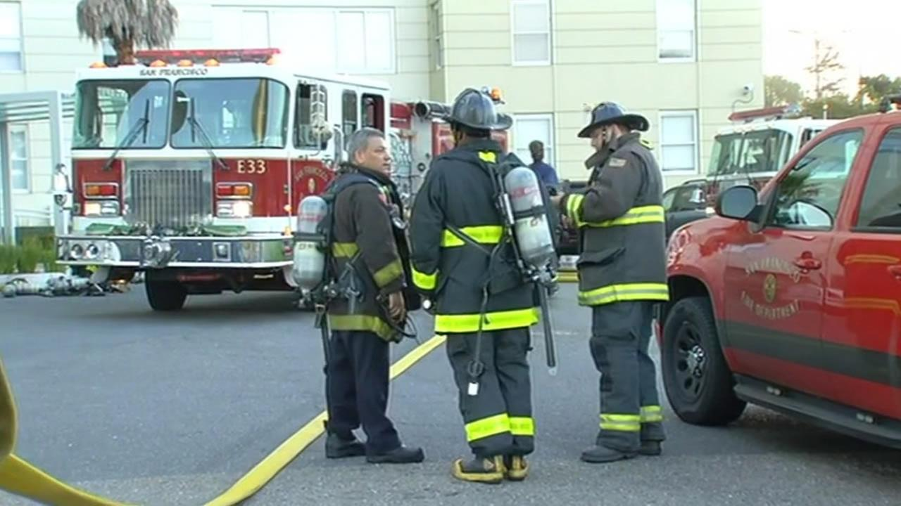 San Francisco fire crews investigate cause of fire at Parkmerced apartment building