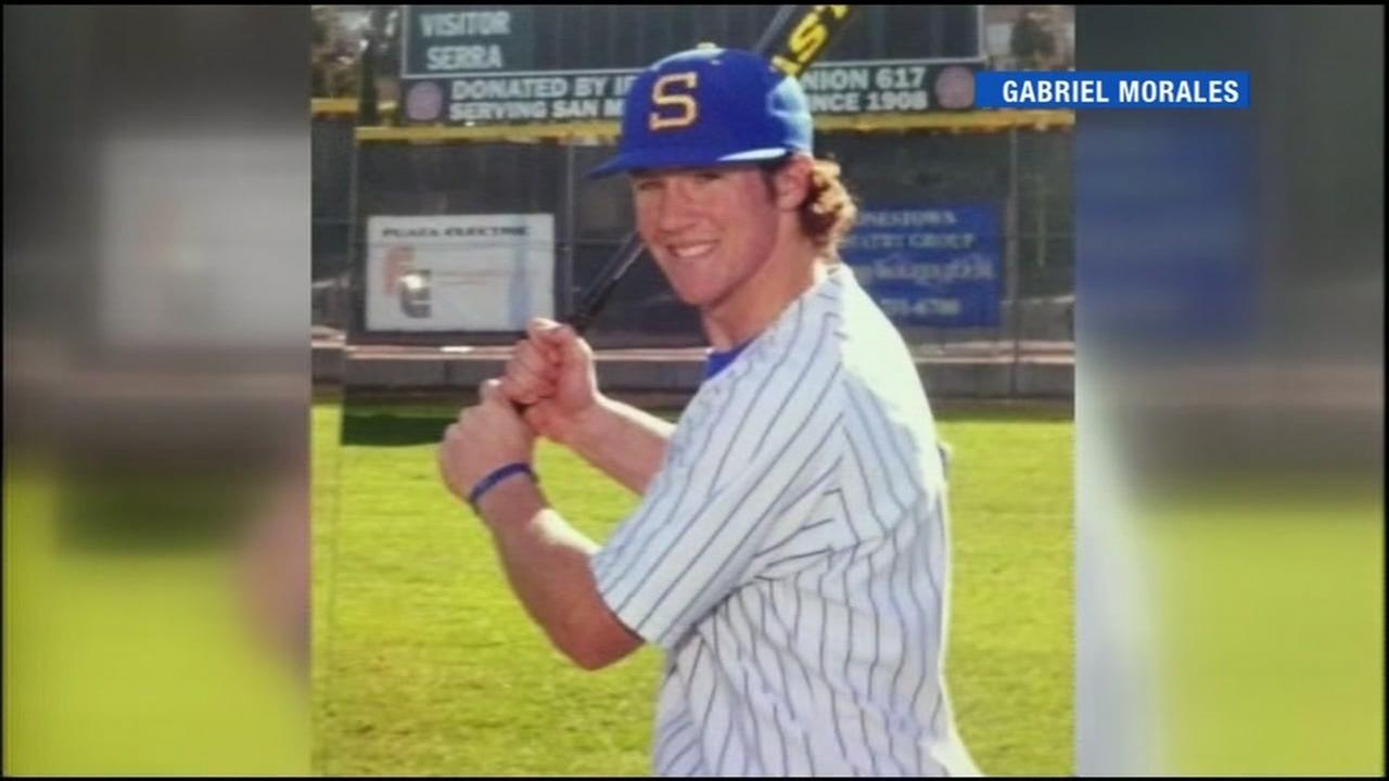This baseball photo is of Calvin Riley, a 22-year-old college student who was gunned down in San Francisco on August 6, 2016.