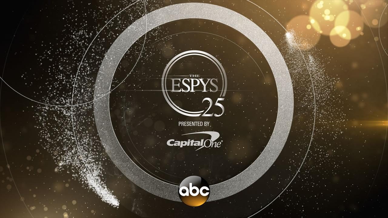 The 25th annual ESPY Awards are on ABC7 starting at 8 p.m on Wednesday, July 12, 2017.