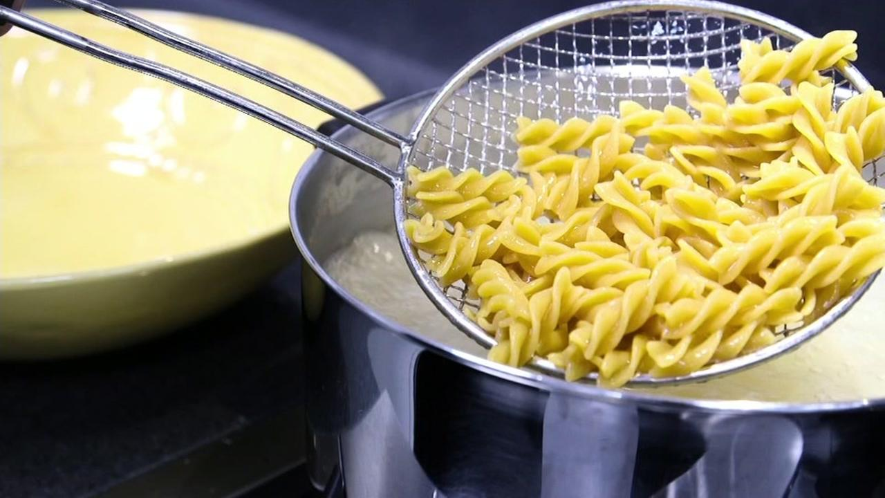 This undated image shows cooked pasta.