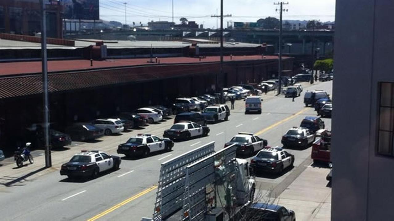San Francisco police are investigating a shooting on Brannan Street near 7th and 8th streets.