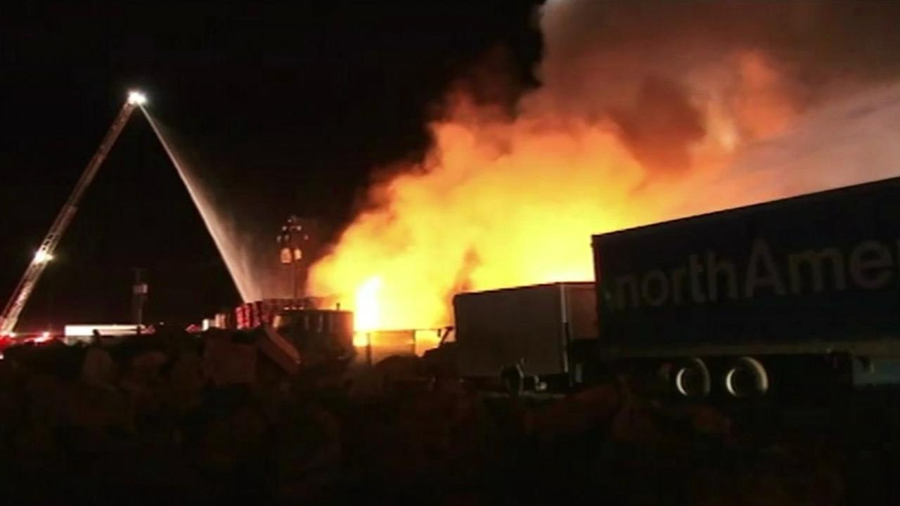 Warehouse fire in San Jose