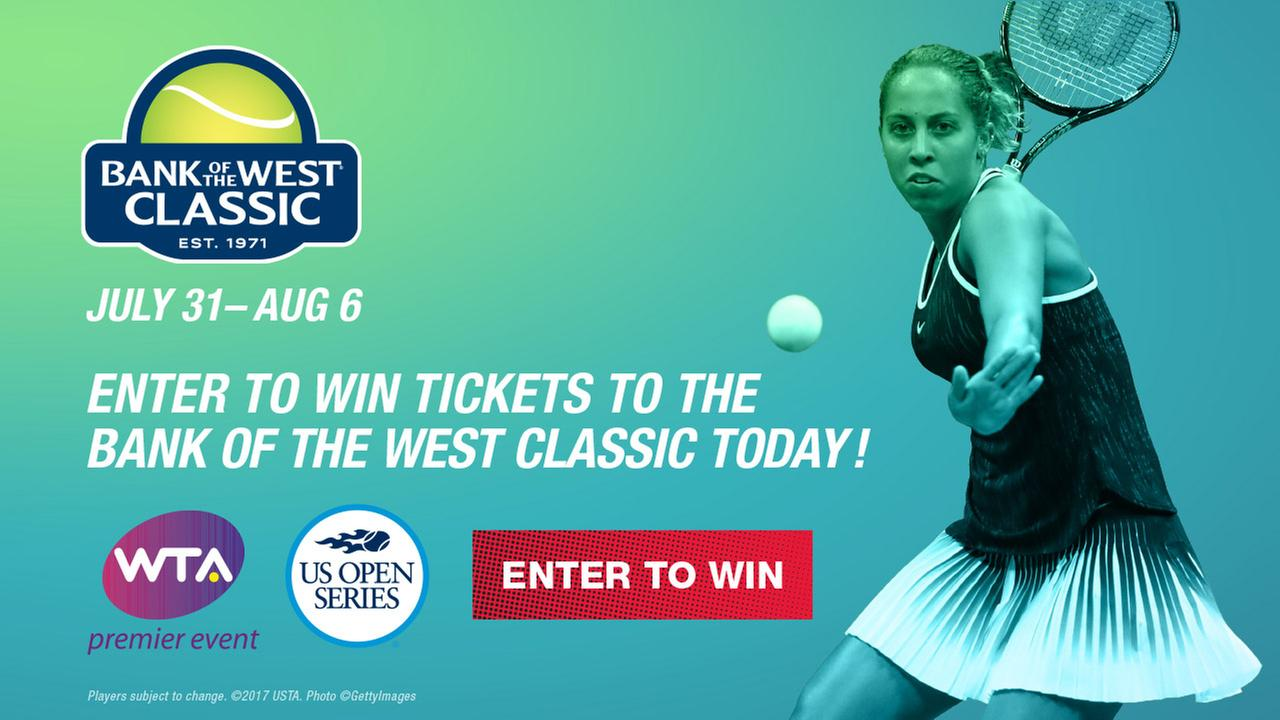 Enter to win 4 tickets to the Bank of the West Tennis Classic