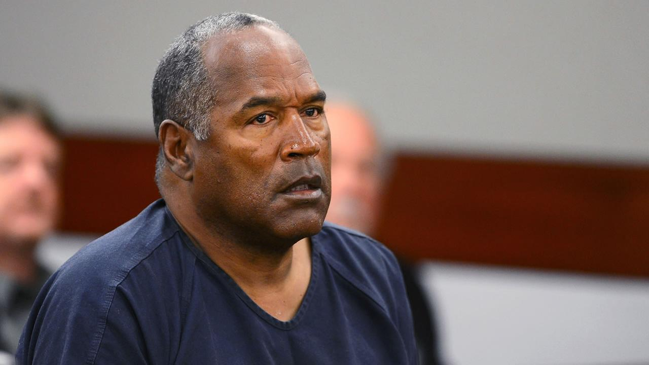 In this May 14, 2013, photo O.J. Simpson appears at an evidentiary hearing in Clark County District Court in Las Vegas.