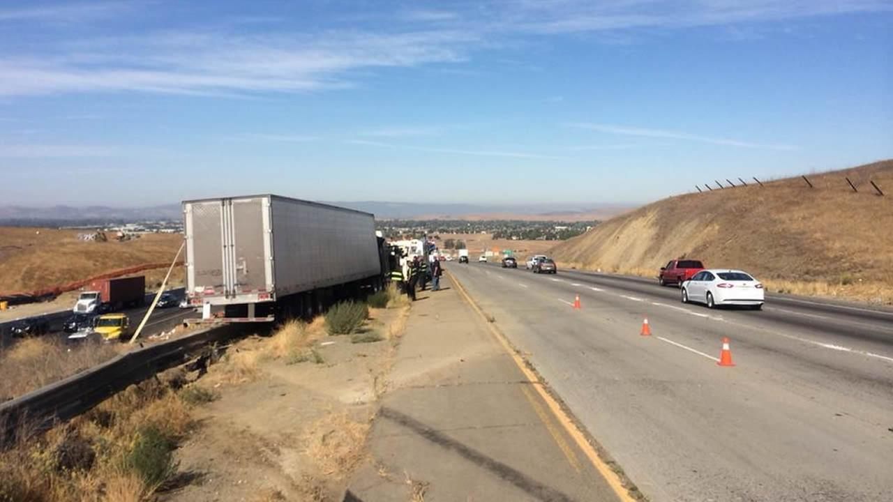 Big-rig crash in Livermore.