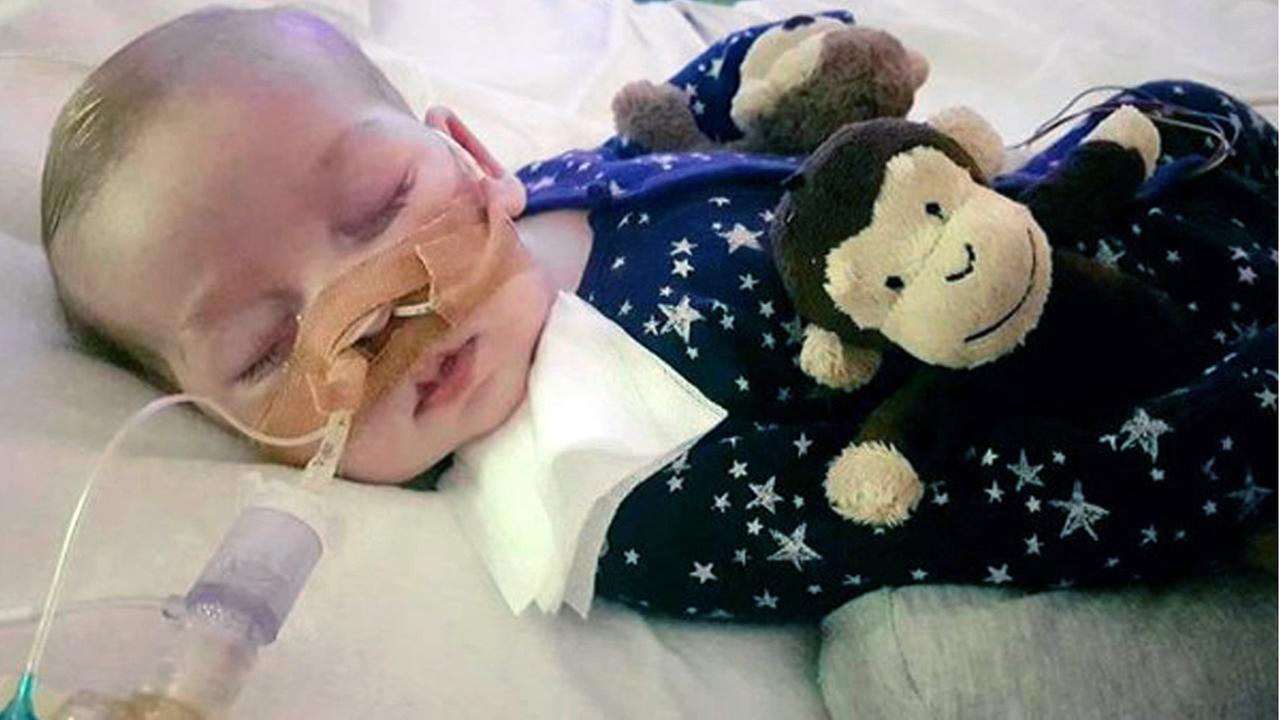 This is an undated photo of sick baby Charlie Gard provided by his family, taken at Great Ormond Street Hospital in London. (Family of Charlie Gard via AP)
