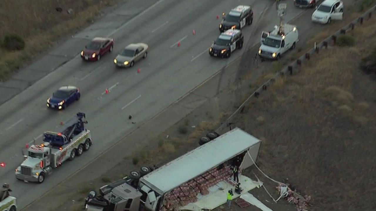 Big-rig crash on I-580 in Livermore.