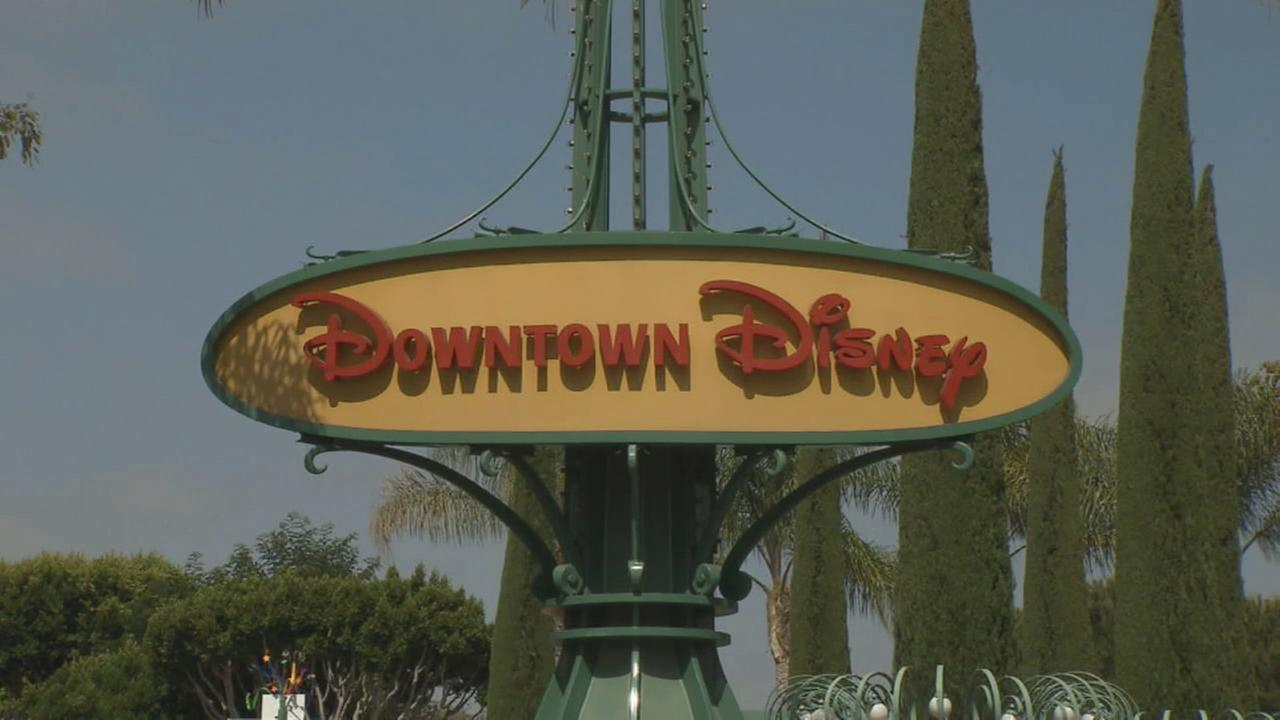 A Downtown Disney sign is seen in an undated file photo.