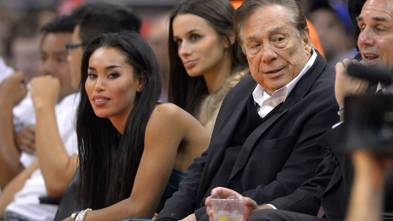 In this photo taken on Friday, Oct. 25, 2013, Los Angeles Clippers owner Donald Sterling watches the Los Angeles Clippers play. (AP Photo/Mark J. Terrill)