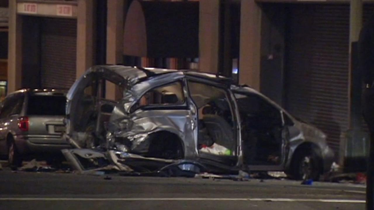 Vehicle reported stolen involved in hit-and-run collision in San Francisco that injured pedestrians, taxi cab.