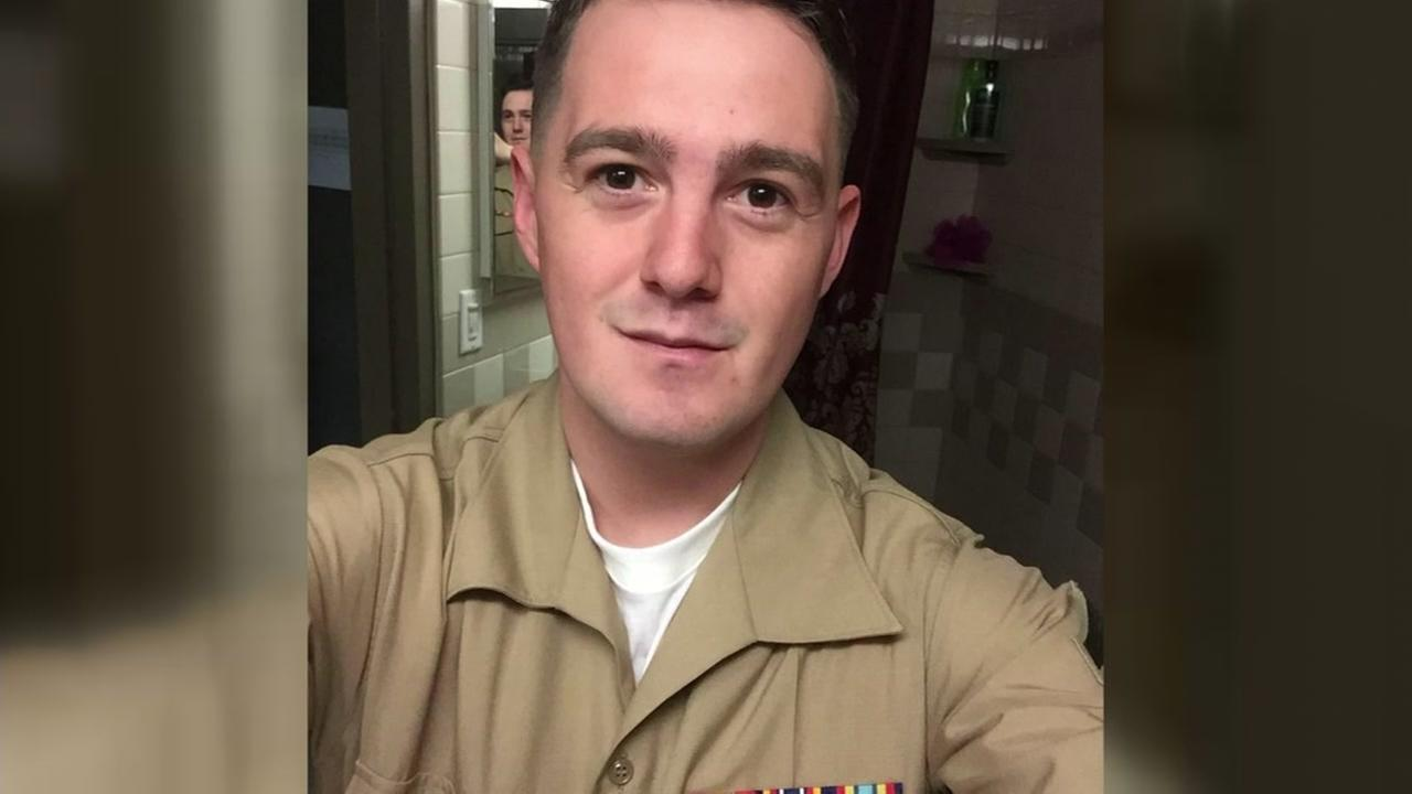 This is an undated image of Marine Cpl. Skylar James, who died after being struck by lightning in North Carolina in July, 2017.