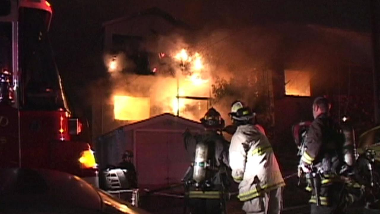 Oakland house fire.