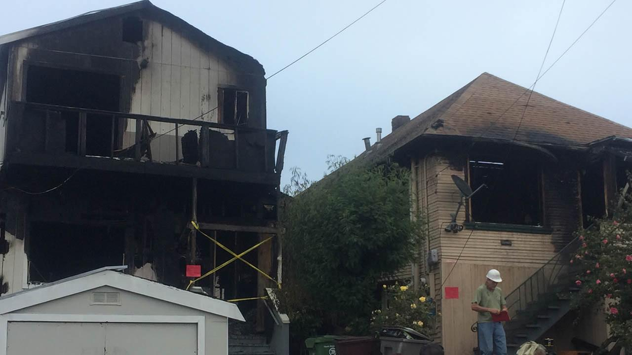 Two Oakland homes damaged in early morning fire.