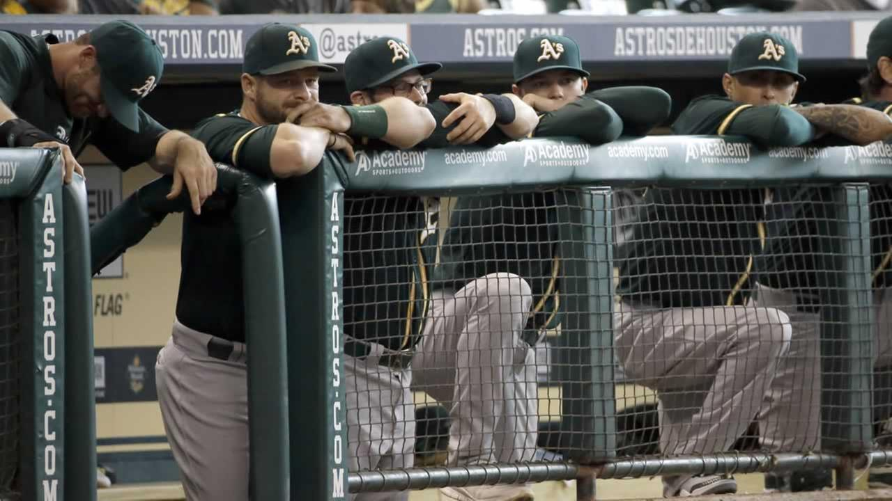 Members of the Oakland Athletics.