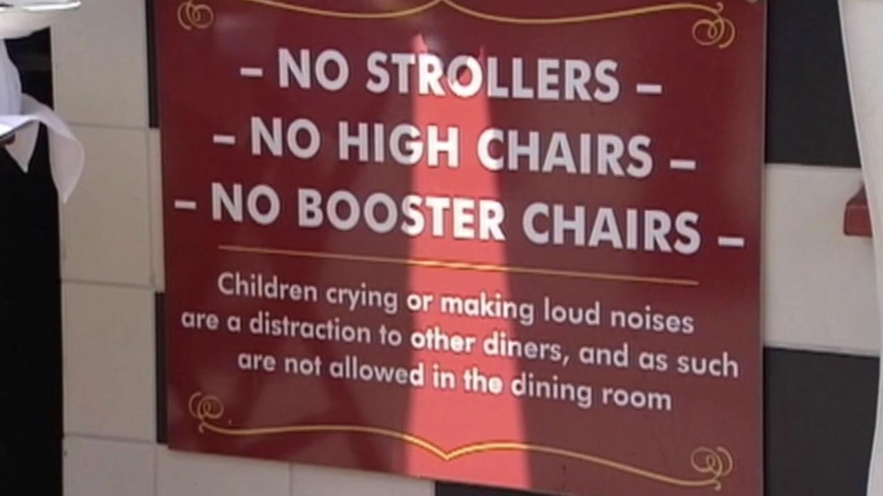 A San Francisco restaurant is confused with a Monterey restaurant that doesnt allow noisy children.