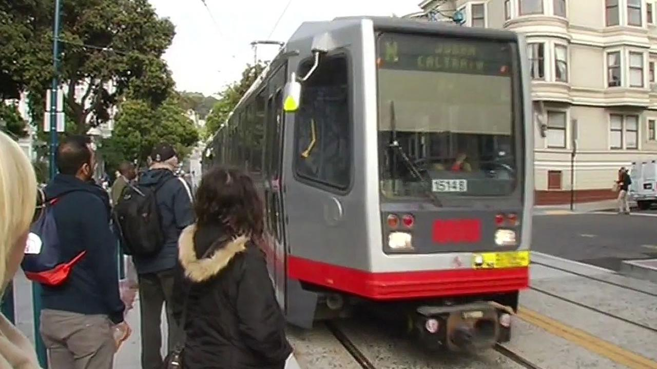 Munis N-Judah train in San Francisco