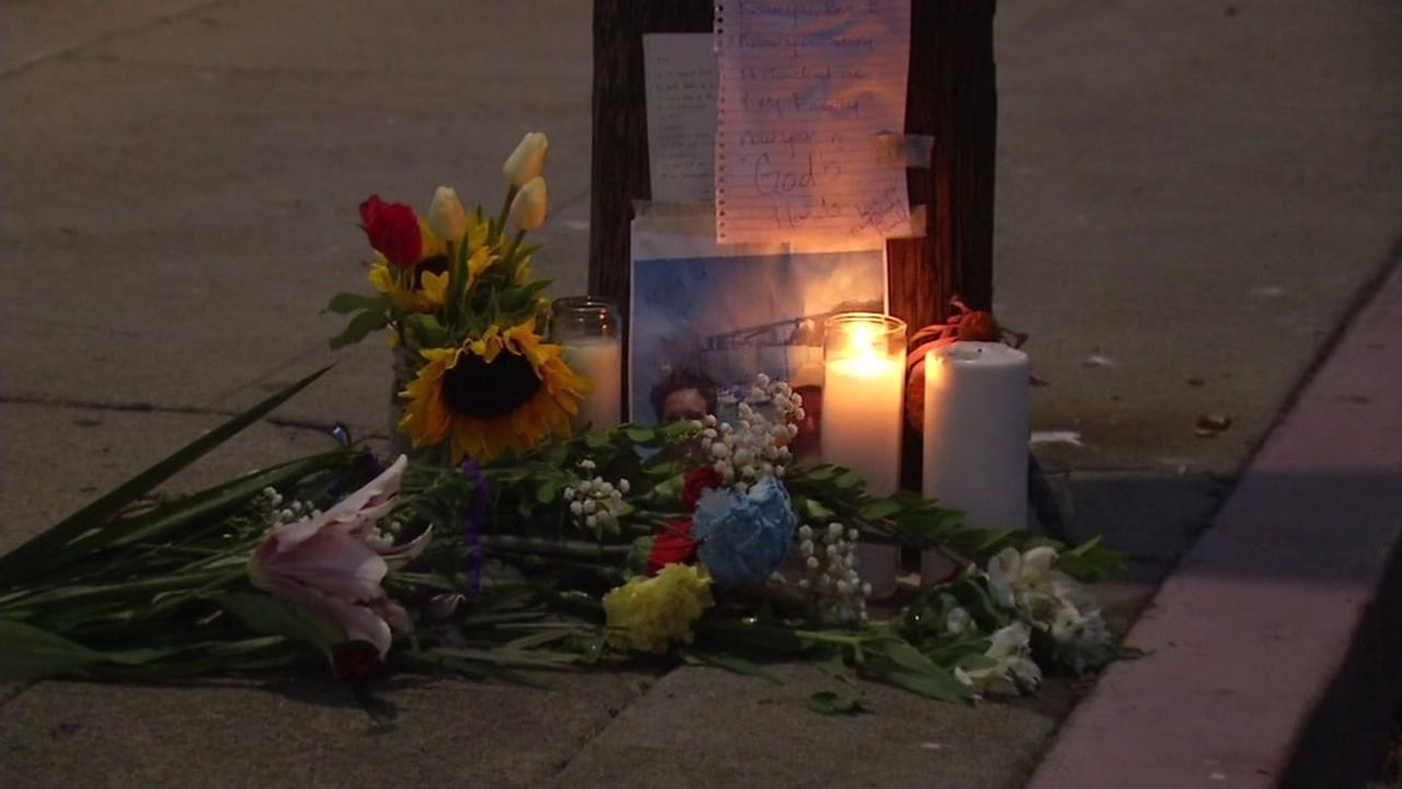 This is an undated image of a memorial held for Dave DePoris in Berkeley, Calif.