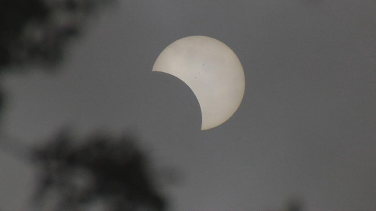 The solar eclipse is seen in the Bay Area on Monday, August 21, 2017.