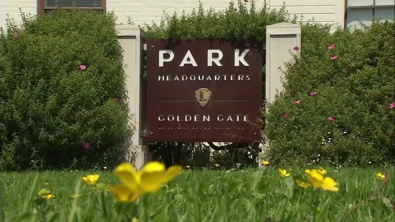 This is an undated image of a sign outside the Golden Gate Park headquarters in San Francisco.