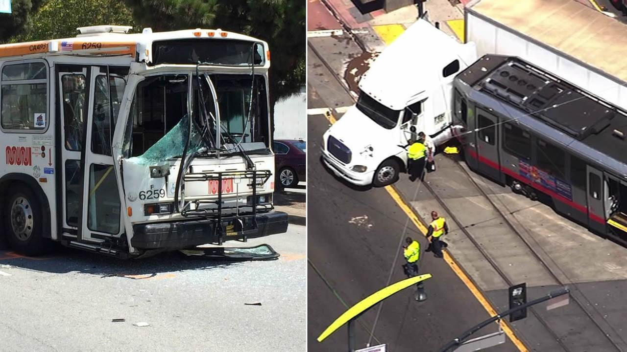 PHOTOS: Muni bus accidents