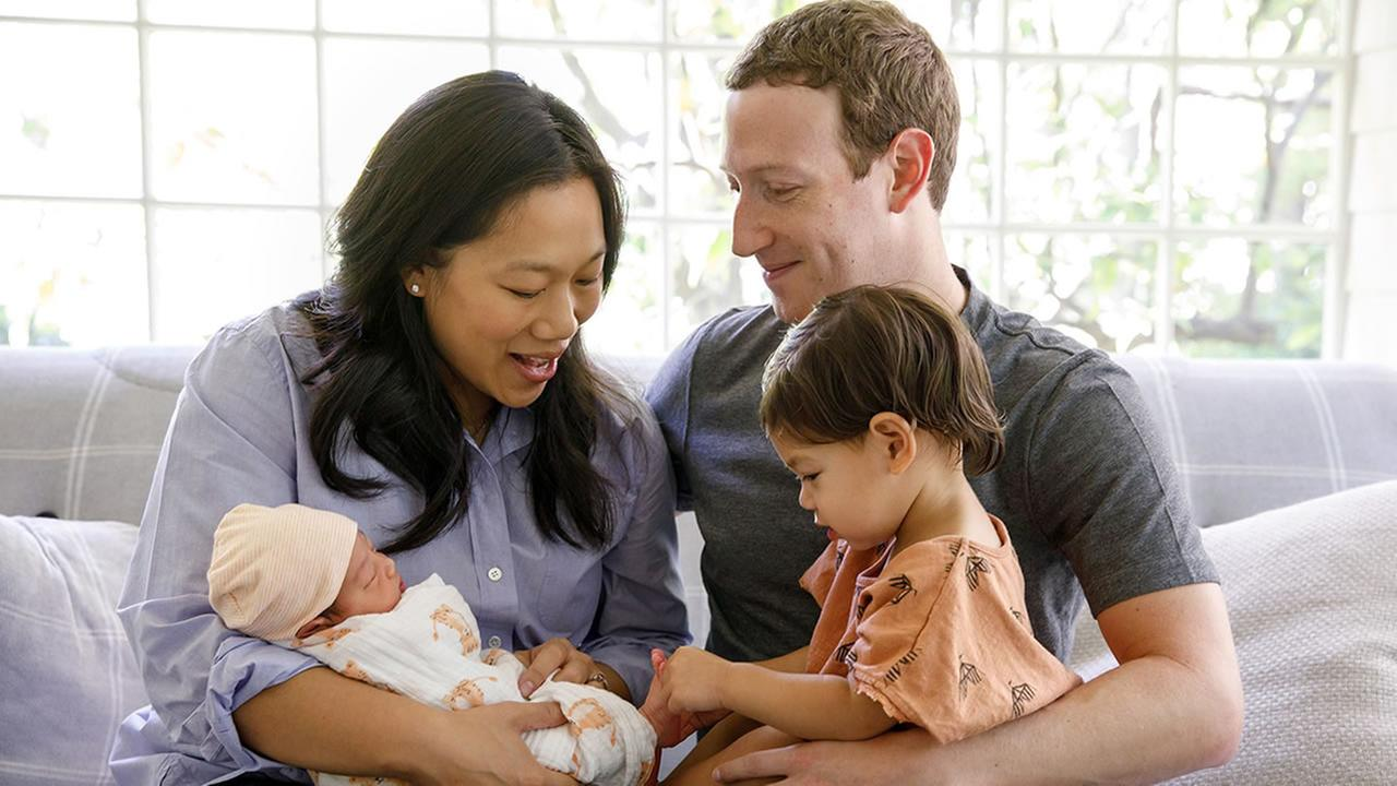 Facebook CEO Mark Zuckerberg shared a photo of his family on Monday, Aug. 28, 2017.