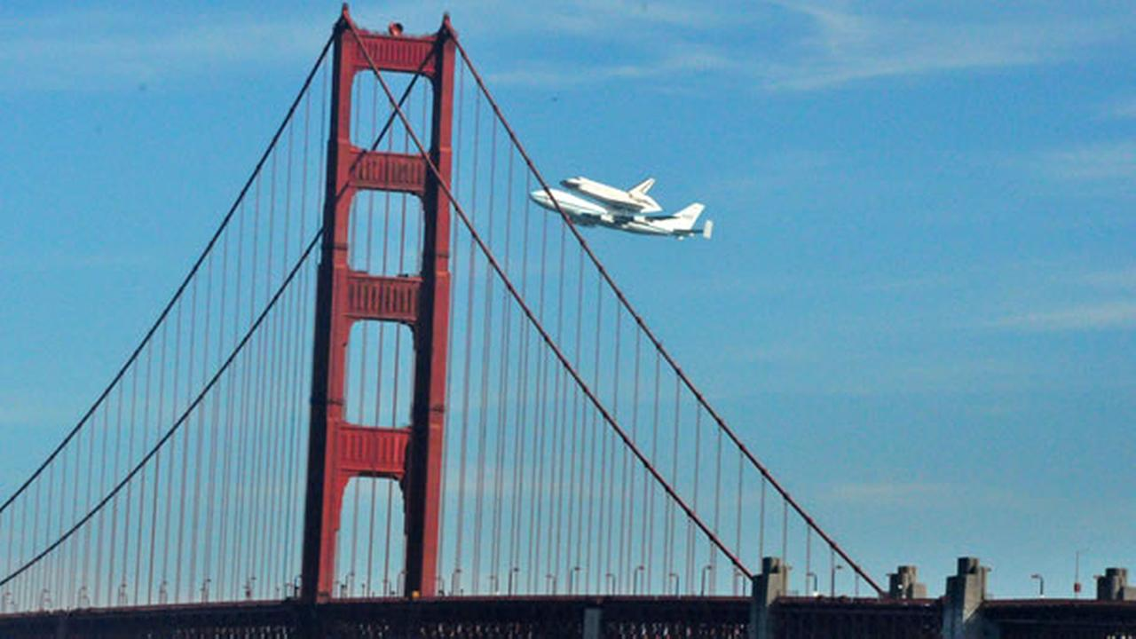 Space shuttle Endeavour made a historic flyover of the Bay Area Friday morning on its way to LA.