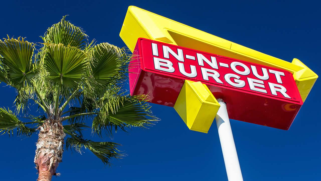 A sign for In-N-Out Burger restaurant is seen in Sunnyvale, Calif. on Feb. 1, 2014.