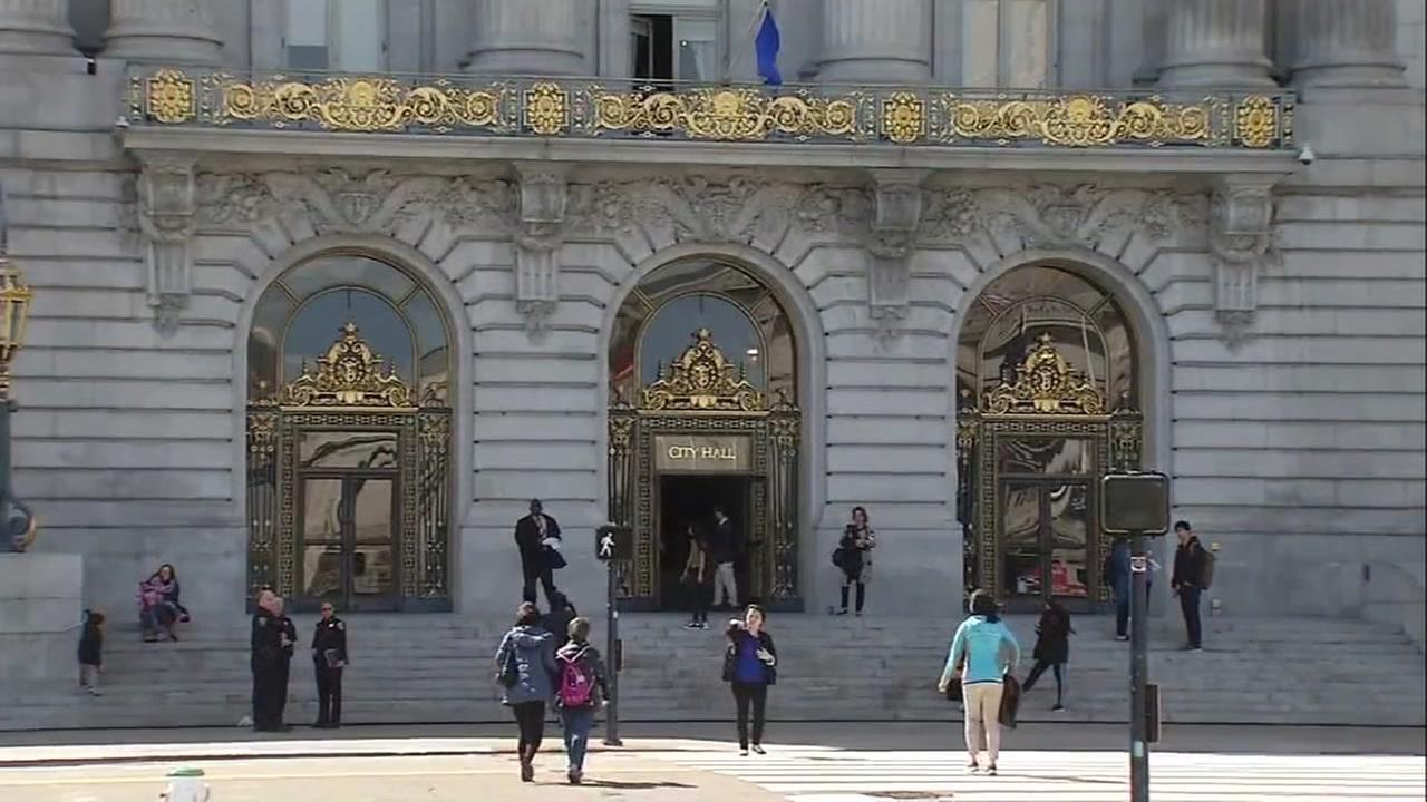 This is an undated image of San Francisco City Hall.